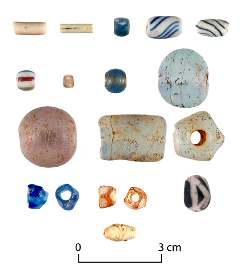Glass beads from Historic Chickasaw sites near Tupelo